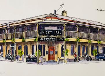 Helen Wilding Drawing Brewhouse Exterior
